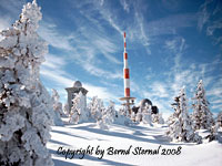 Der Brocken im Harz im Winter