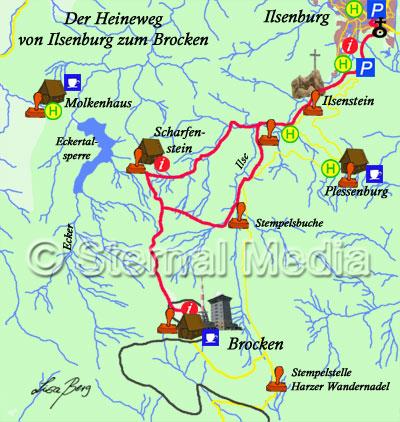 Heinrich Heine Weg Von Ilsenburg Zum Brocken Im Harz Ausflugsziele Und Sehenswertes Im Harz
